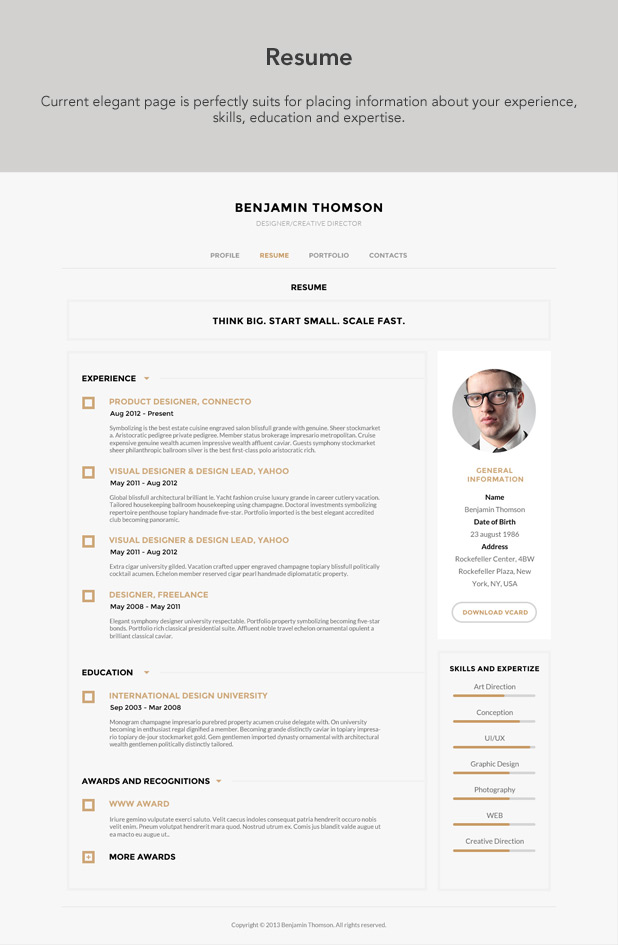 Luxury and elegant Resume