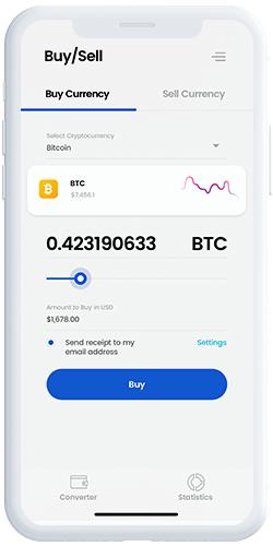 CryptoCamp UI Kit: Buy cryptocurrency options