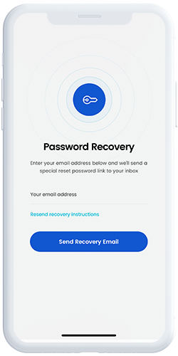 Password Recovery screen
